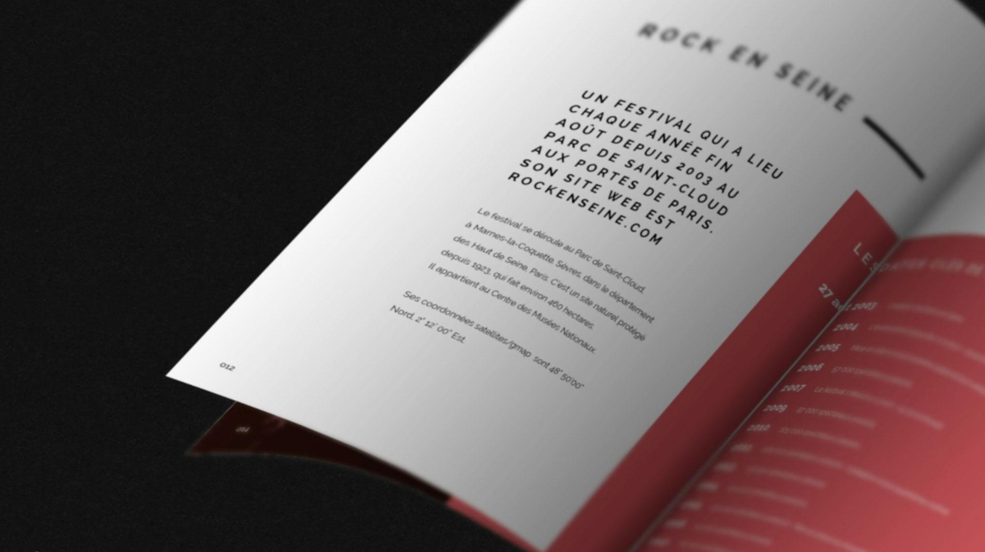 Capture d'un projet de design éditorial du Studio Edoras