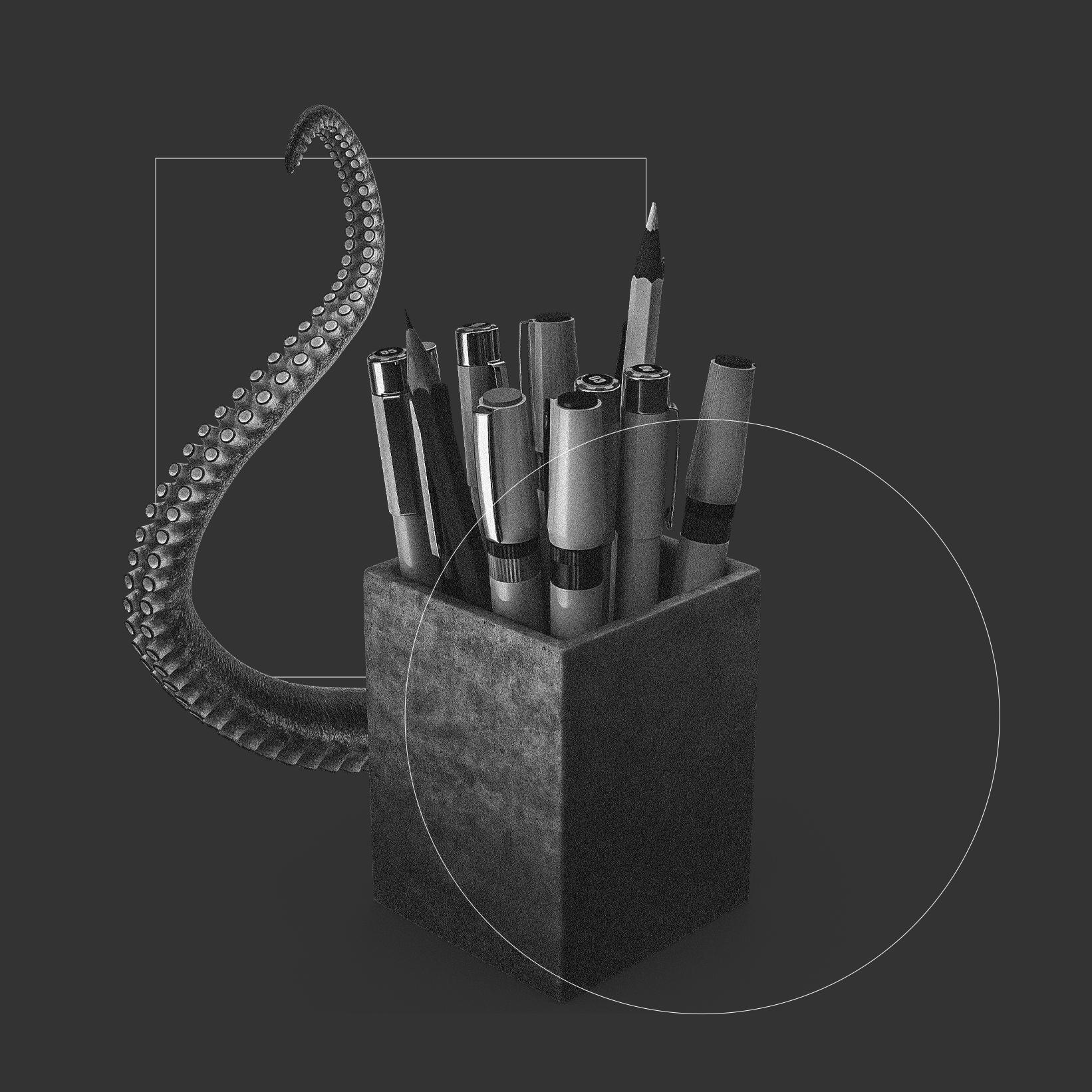 Visuel design qui représente le début d'un projet créatif que ce soit une Campagne de communication, un flyer, une Brochure, la création d'un logo ou des ateliers pour améliorer l'expérience utilisateur d'une application mobile