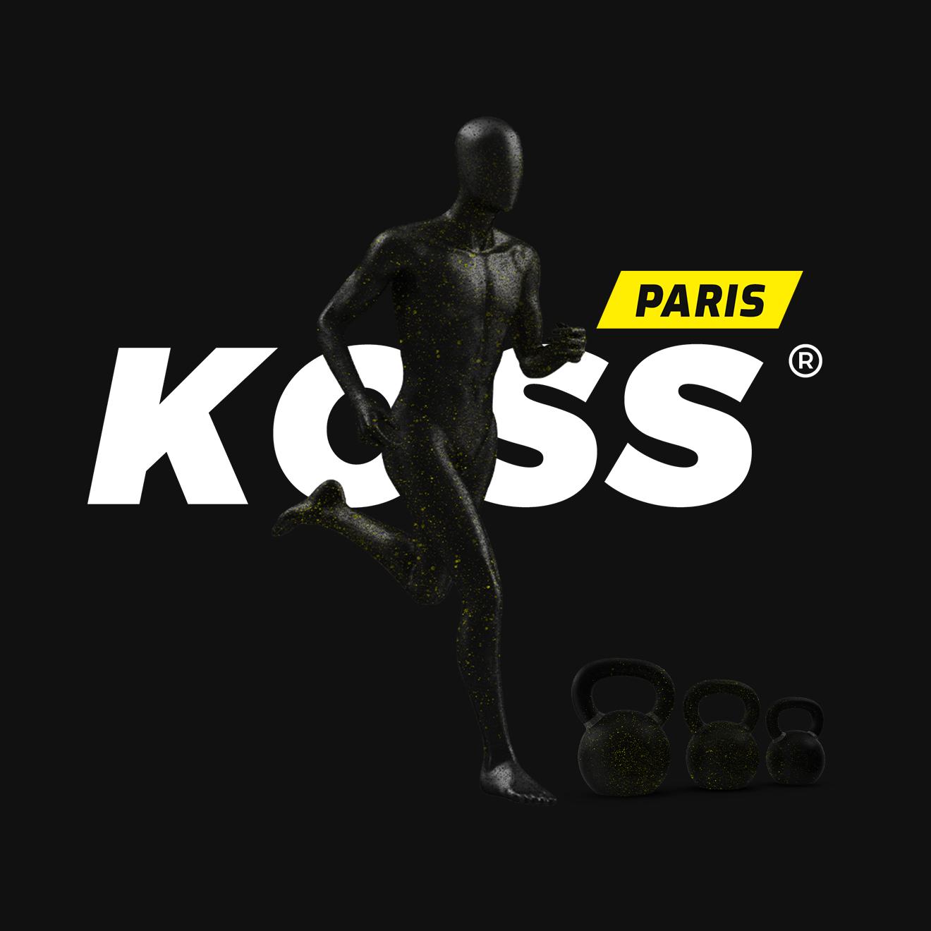 Visuel de la refonte de l'identité visuelle du cabinet de kine Koss Paris. La mission consistait à la création d'un logo, du rebranding de l'identité de l'entreprise et la création du site web.
