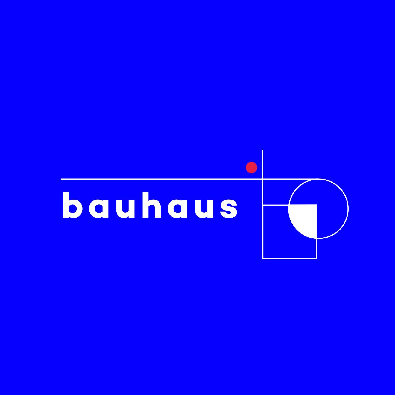 Création d'un logo pour le centenaire de l'école Bauhaus.