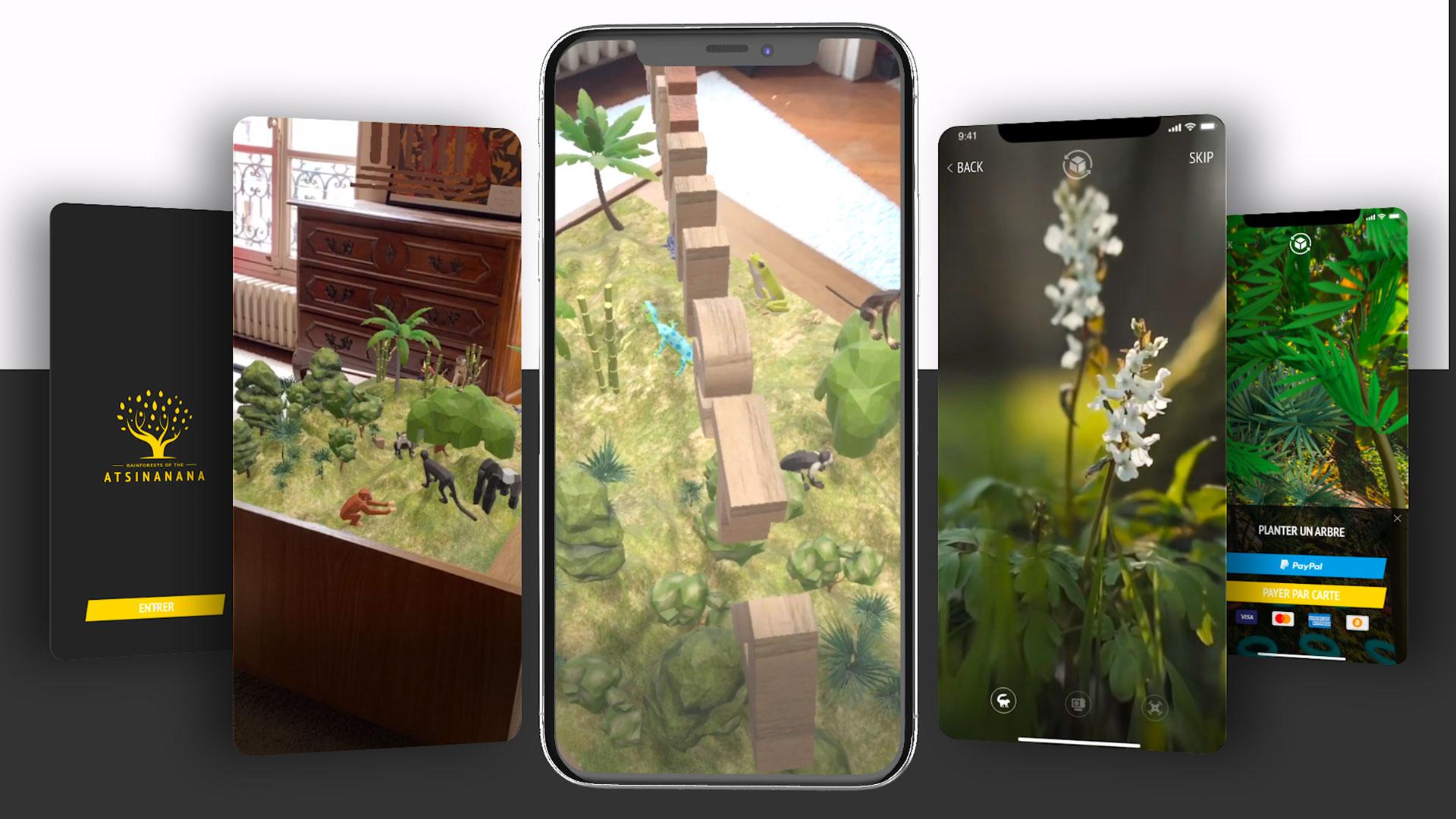 Image d'un projet d'application mobile en réalité augmentée réalisé pour Adobe et l'Unesco.