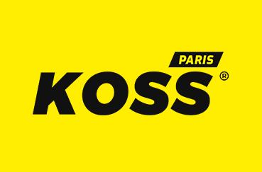 Rebranding : logo sur fond jeune des cabinets de kinésithérapie du sport et d'ostéopathie du sport KOSS Sport