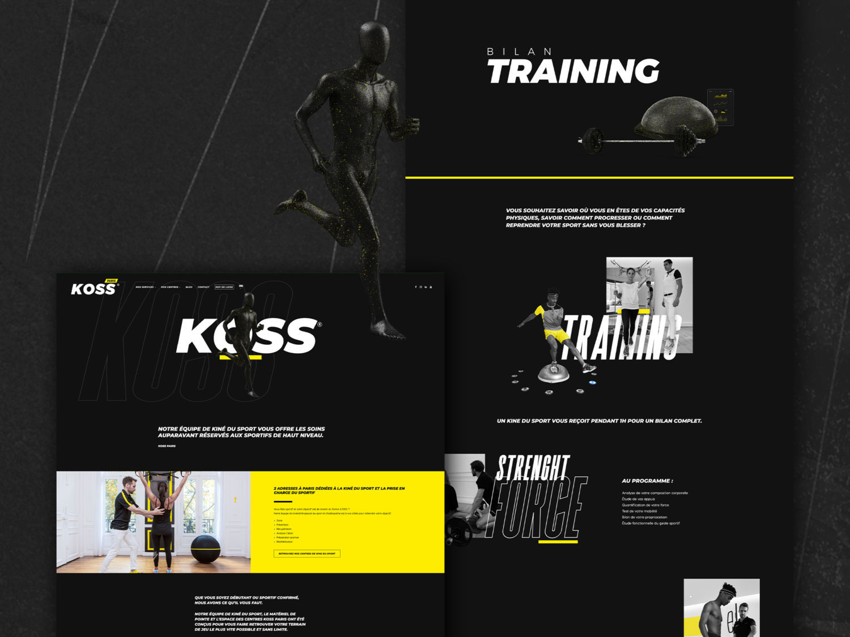 Refonte du site internet des cabinets de kiné su sport KOSS Sport
