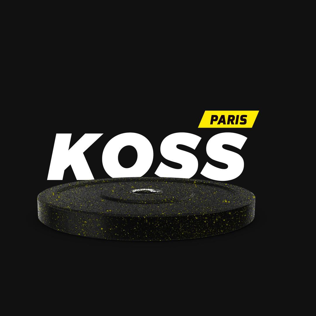 Visuel du logo du cabinet de kiné du sport et d'ostéo Koss à Paris.