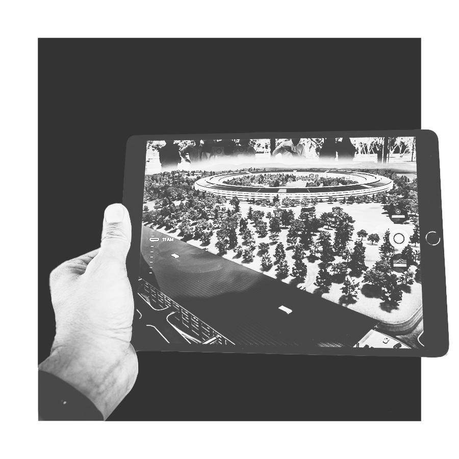 Image d'introduction pour présenter notre expertise en réalité augmentée pour des expériences immersives de l'univers des entreprises au sein du studio de création de design graphique : Studio Edoras présent sur Paris, NEUILLY SUR SEINE et Bordeaux. Studio de design graphique spécialisé dans la création de site internet et d'identité visuelle