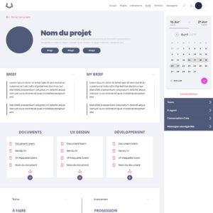 Wireframe réalisé par UX Designer. Maquette UX Design pour une plateforme web.