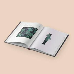 Mise en pages d'un ivre d'entreprise : service de création de supports de communication imprimé. Réalisé par une agence de communication et studio de design à Paris et Bordeaux.