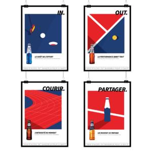 Image présentant une identité visuelle réalisée des graphistes. Couleurs, typographies et univers graphique.