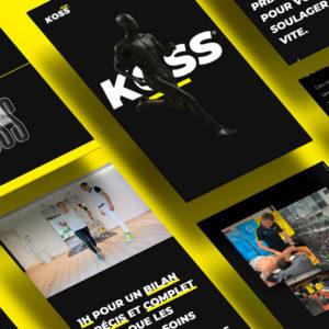 Design d'un post pour les réseaux sociaux réalisé par le Studio Edoras réalisé pour KOSS, mettant en scène la refonte de leur site internet.