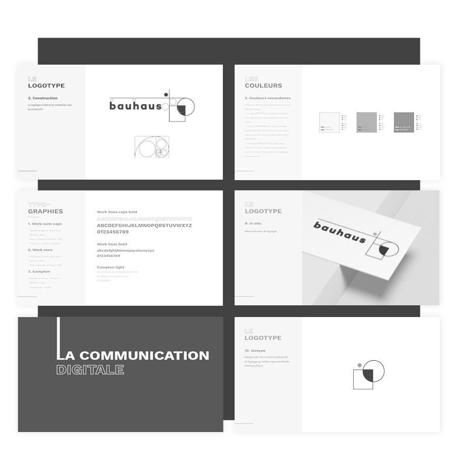 Image d'introduction pour présenter les services du studio de création et plus particulièrement la création de charte graphique pour les entreprises